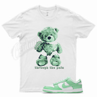 White SMILE T Shirt for Nike Dunk Low Green Glow All Star Foamposite Mint