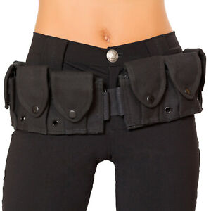 Utility Ammo Belt with Pouches Adjustable Police Military SWAT Costume 4502