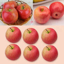 6pcs Lifelike Decorative Artificial Fake Red Apples Fruit Home House Decor