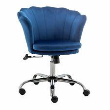 Velvet Home Office Chair Shell Vanity Chairs Swivel Study Task Desk Seat Stools