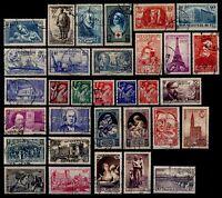 L' ANNÉE 1939 Complète, Oblitérés = Cote 147 €  / Lot Timbres France 419 à 450