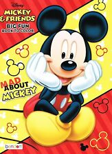 Mickey & Friends Big Fun Coloring Book Mad About Mickey Bendon Ages 3+ New
