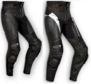 Pantalon Cuir Sport Moto Naked Protections Curseurs Sportif Technique