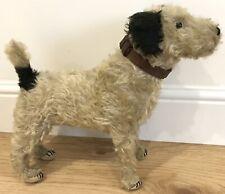 Rare Antique Mohair Caesar Terrier Dog Soft Toy King Edward VII Dog Poss Farnell