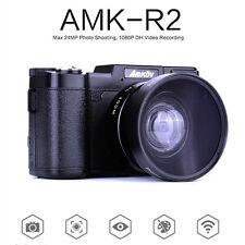 "AMKOV 24MP HD 1080P Digital Cameras 3"" 180 Degree Screen DSLR+ Wide-angle Lens"