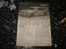 Vintage RC Kyosho Instructions Used BMW M3 GTR