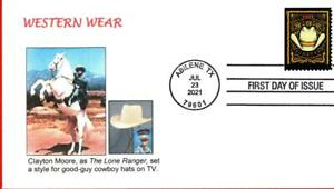 Western Wear Clothing, The Lone Ranger, Horse Silver, Cowboy Hat, FDC