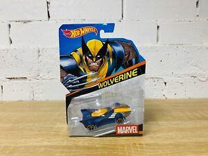 1:64 Hot Wheels Marvel Comics X-Men Character Cars Wolverine Blue Yellow