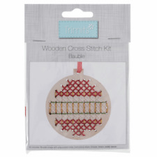 Trimits Cross Stitch Kit: Wooden: Bauble Christmas