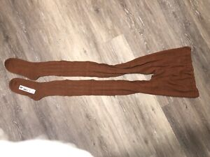 Womens / Mens Brown Cotton Winter Tights Size XXL