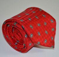 Robert Talbott for Gus Kaplan Red Diamond Print Luxury Neck Tie For Work SILK