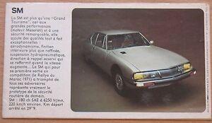 Advertising Booklet 1972 Car Auto mobile SM CITROEN Old Retro Poster Rare vtg