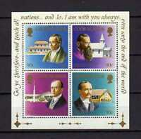 16369) Cook Isl. MNH New 1990 Missionaires S/S