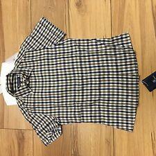 aquascutum ladies house check short sleeve shirt.xs