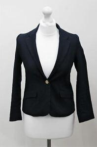 ZARA GIRLS Blue Cotton Blend V Neck Single Breasted Suit Blazer Age 12 152cm