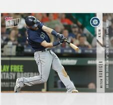 2018 Topps NOW MLB 589 Mitch Haniger Go-Ahead RBI Double in 10th