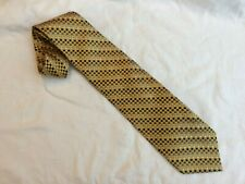 Joseph & Lyman Gold Metal Alloy Techno Mens Silk Necktie Classic Tie Made in USA