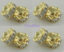 Brass Rondelle Gold Jewellery Making Beads