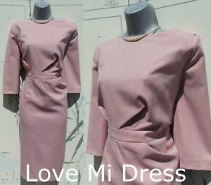 Marks & Spencer Collection - Fitted Pink Pencil Wiggle Dress Size 18 EU46