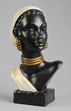 Salvatore MELANI 1902-1934 Art Deco Superbe buste jeune femme africaine bust