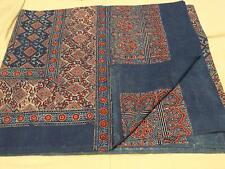 Indian Bohemian Handmade Handblock Bedspreads Bed Cover Blanket Ajrakh Quilt