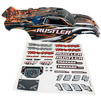 Traxxas Rustler XL-5 Orange - BodyShell - Body Shell - Decals - Genuine 3749