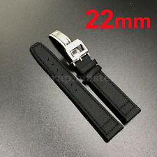 22mm 21mm 20mm Nylon Fabric Leather Watch Band Strap for IWC  Portuguese Top Gun