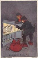 circa 1910 Victorian Print Advertisement Fry's Cocoa Burglars Open Safe 7.5 x 5