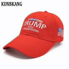New Fashion Trump 2020 Hat Red USA Flag Baseball Cap Men Women Embroidery