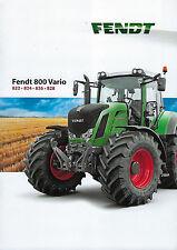 Fendt 800 Vario 2012 Schlepper Prospekt
