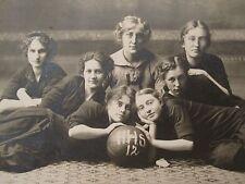 ANTIQUE VINTAGE 1912 HIGH SCHOOL GIRLS BASKETBALL TEAM MN STEFFENSRUD RPPC PHOTO