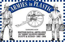 ARMIES IN PLASTIC 1/32 E&S 1882-98 Royal Artillery (5 blue)w/Gatling gun ARM5556