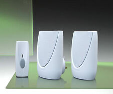 100m Byron Twin Plug-in and Portable Wireless Door Chime Kit.