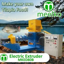 Extruder To Make Your Own Tilapia Fish Food- Usa Stock 80 model. Food Machine