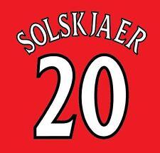 Solskjaer Manchester United 1999-2000 champions league Football Nameset 4 shirt