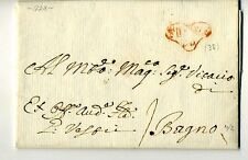 1774 TOSCANA letetra FIRENZE-BAGNO-timbro CUORE ROSSO-f652