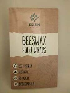 Beeswax Food Wrap Set | 3- Pack Reusable Bees Wax Cover Paper Wraps
