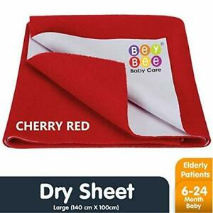 Dry Baby Care Waterproof Bed Protector Sheet - Large Red US