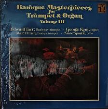 BAROQUE MASTERPIECES FOR TRUMPET & ORGAN VOL III-SEALED1978LP EDWARD TARR DOLBY