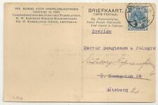 CARD PAYS BAS NETHERLANDS AMSTERDAM TO GOTEBORG SWEDEN. 1922. L490