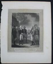 Engraving Cornwallis Resigning His Sword to Washington Smirke Archer & Boilly