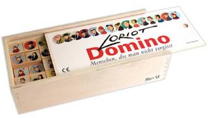 Loriot Domino XXL Legespiel Menschen die man nie vergisst Echtholz Teebaum Spiel