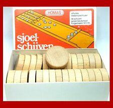 Homas Sjoelschijven Sjoelbak Pucks Set of 30 Vingtage 1970's Dutch Shuffleboard