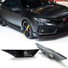 2PCS Car Front Side Marker Light Smoke Len Lamp Cover For 2016-2018 Without Bulb