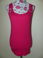 Neues Colours Damen Tshirt Tank Top Shirt Sommershirt Gr. XL Pink NEU/OVP