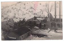 RARE - RPPC Pump Station Fire Disaster - ALMA NY 1913 - Real Photo Postcard