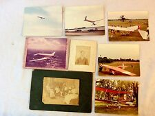 Vintage Lot 8 Photographs Aviation Hang Glider Piedmont Airlines Jet Portrait
