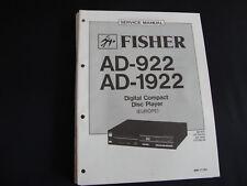 Original Service Manual Fisher AD-922 AD-1922