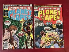 Lot of 2 vintage marvel comics adventures on the planet of the apes #s 3, 7