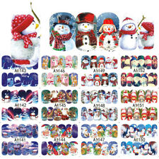 32 Pcs Christmas Water Transfer Nail Art Decoration Stickers Decals A1129-1160